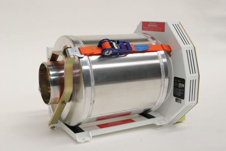 An exposed CBRN filter