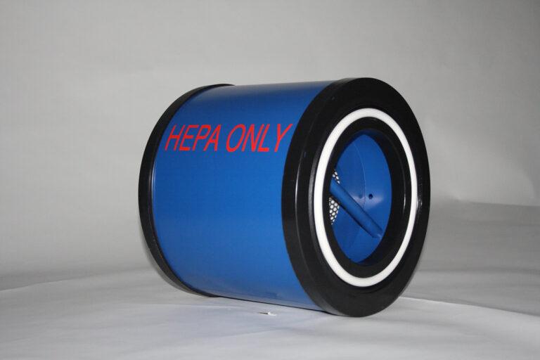 A blue integrated fresh air filtration unit.